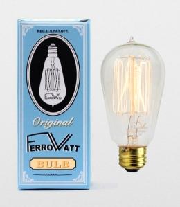 Ferrowatt gloeilamp lightbulb