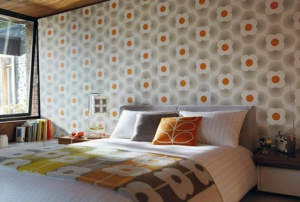 Orla kiely wallpaper 01