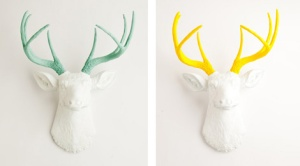 White faux taxidermy 05