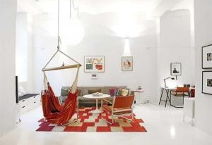 Hangmat loft scandinavisch