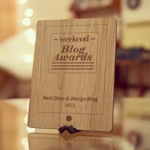 Weekend blog awards 2013 woonblog
