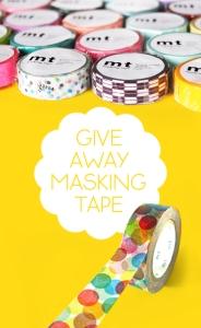 Masking tape washi
