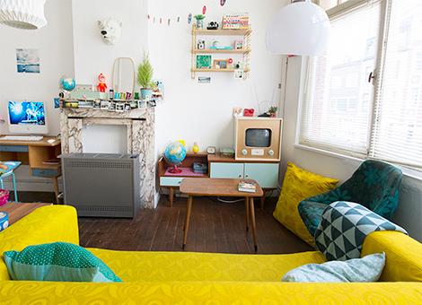 Binnenkijken in een kleurrijk vintage appartement in gent for Design appartement gent