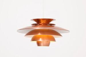 Deense koperen Pendant lamp
