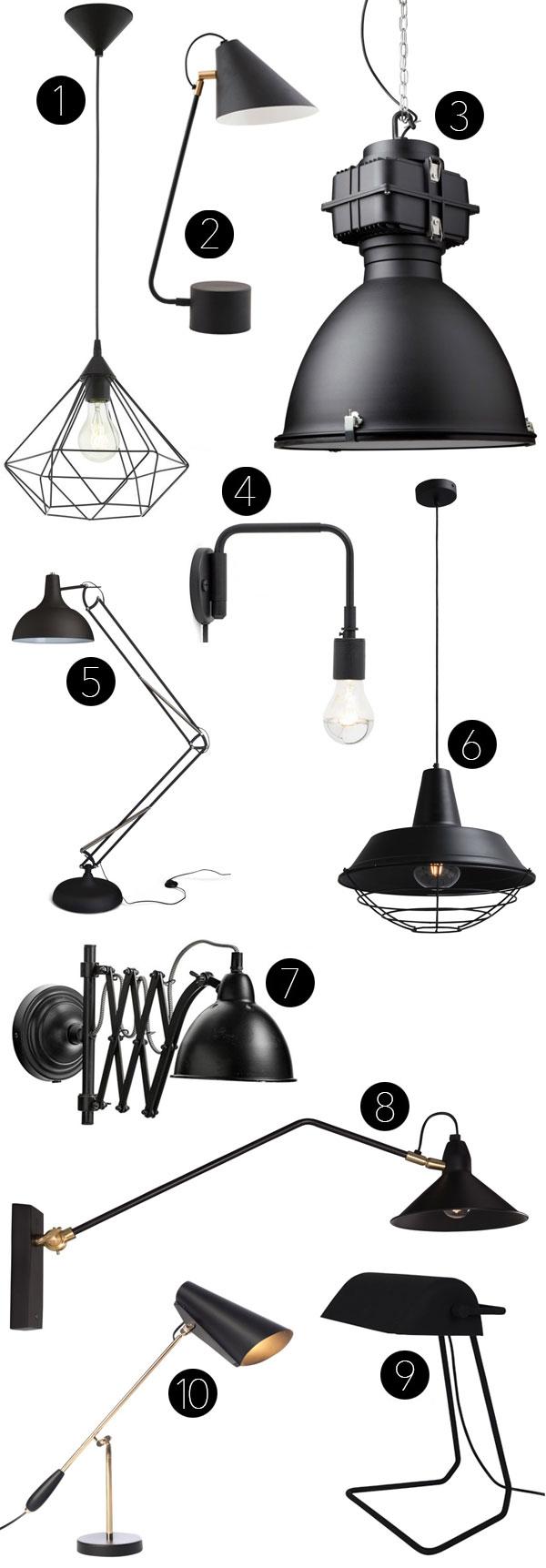 Verlichting-zwart-interieur-lamp-mat-zwart-industrieel-retro-verlichting
